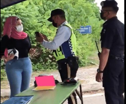 Terkini : Wanita Sabah maki polis di SJR yang tular kelmarin akhirnya ditahan