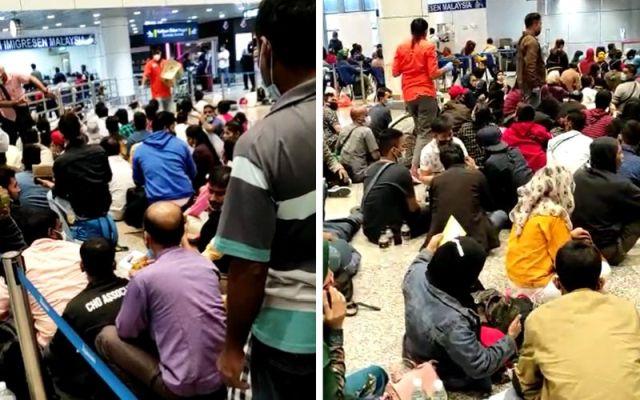 Gempar !!! Ratusan pekerja asing tersadai di KLIA, kluster baru akan wujud?
